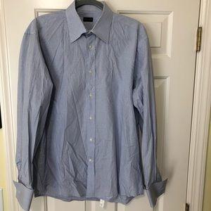 Valentino Designer blue button shirt 16 1/2 42
